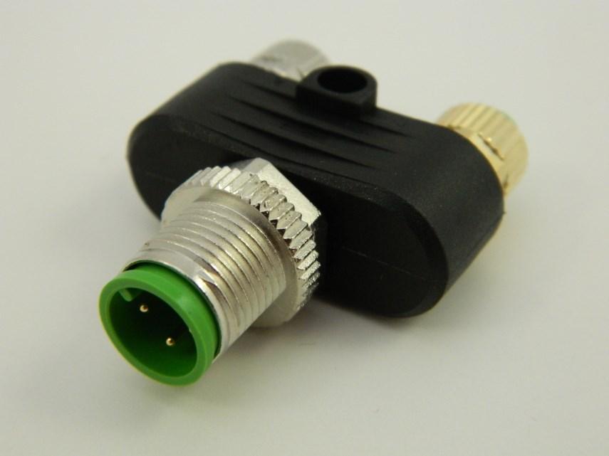 T-connector met kabel