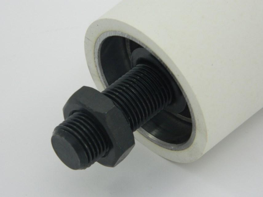 Aandrukrol rubber voor opdeelzaag