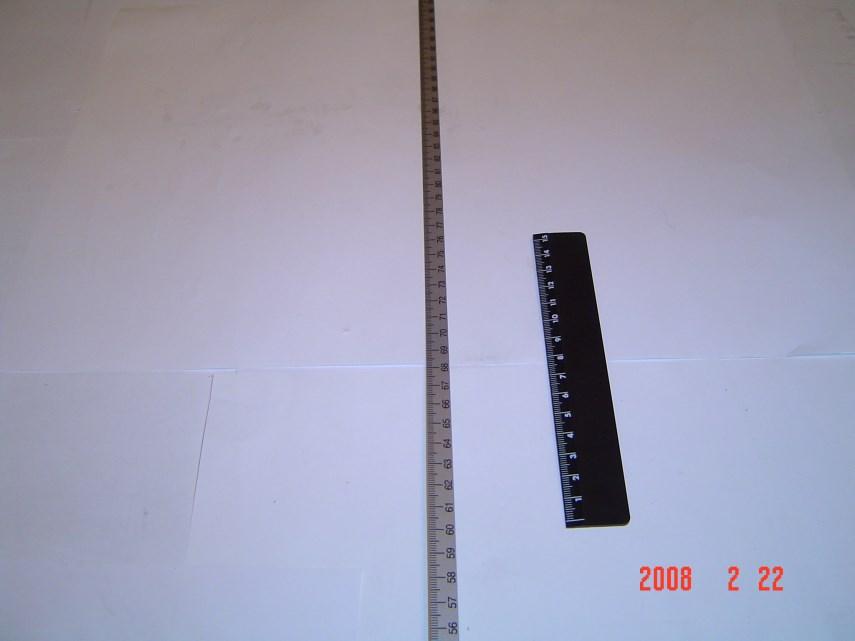 Zelfklevende metrische schaal 0-1600 1600 mm