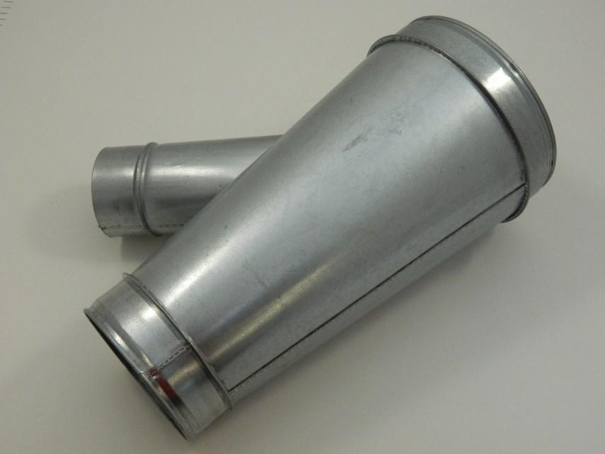Spruitstuk D150-125 45°