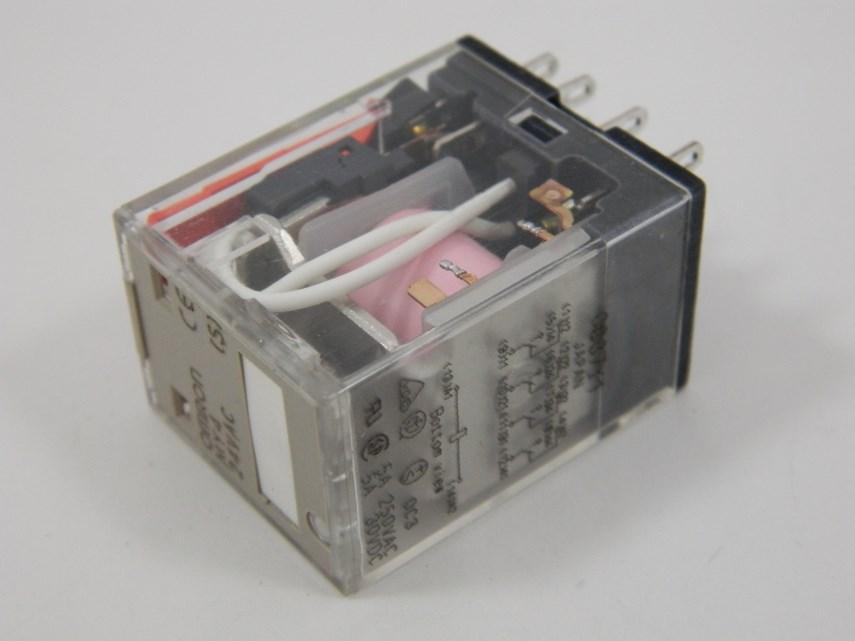 Insteekrelais 4W/5A Z.led 24VAC 4P