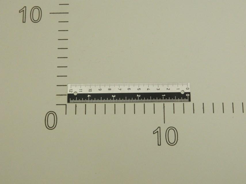 Maatverdeling Lange schaal L120 mm