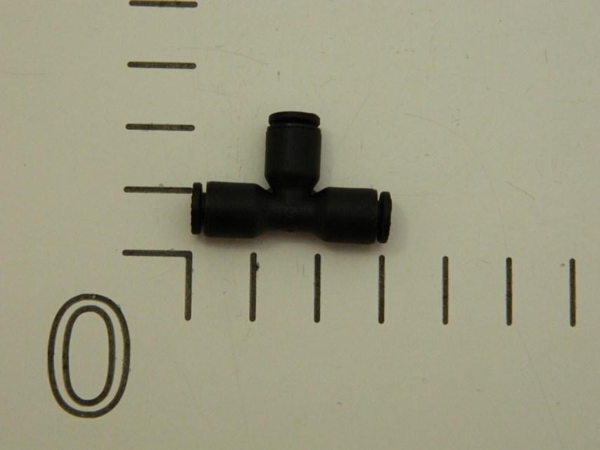 T-stuk insteekkoppeling 4 mm