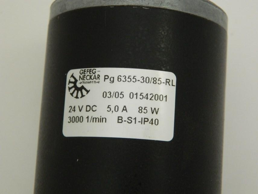 Gelijke stroommotor GR6355 24 V