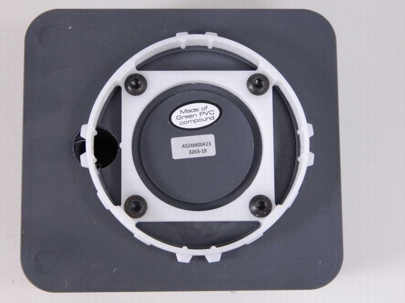 Vacuumcup heel 131x146x74mm PVC, rubber ring buiten, koord binnen