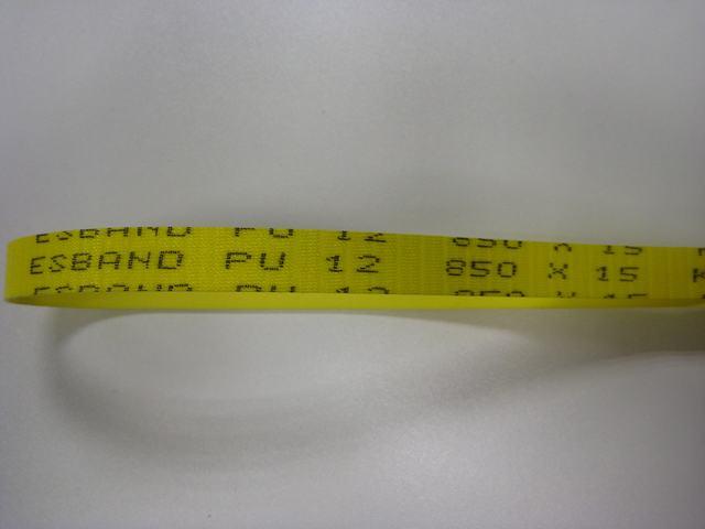 Voorritsriem 850x15x1,5 mm