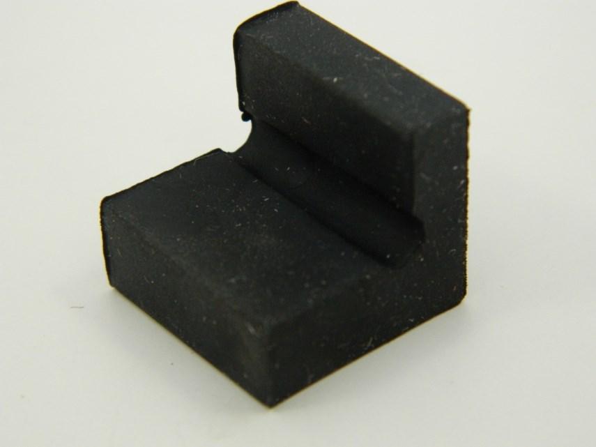 Aanslag rubber rolwagen 20x18x20 mm