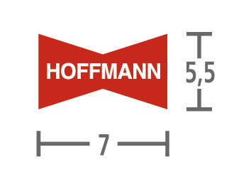 Hoffmann wiggen W1 6,0 mm - 1.000 stuks