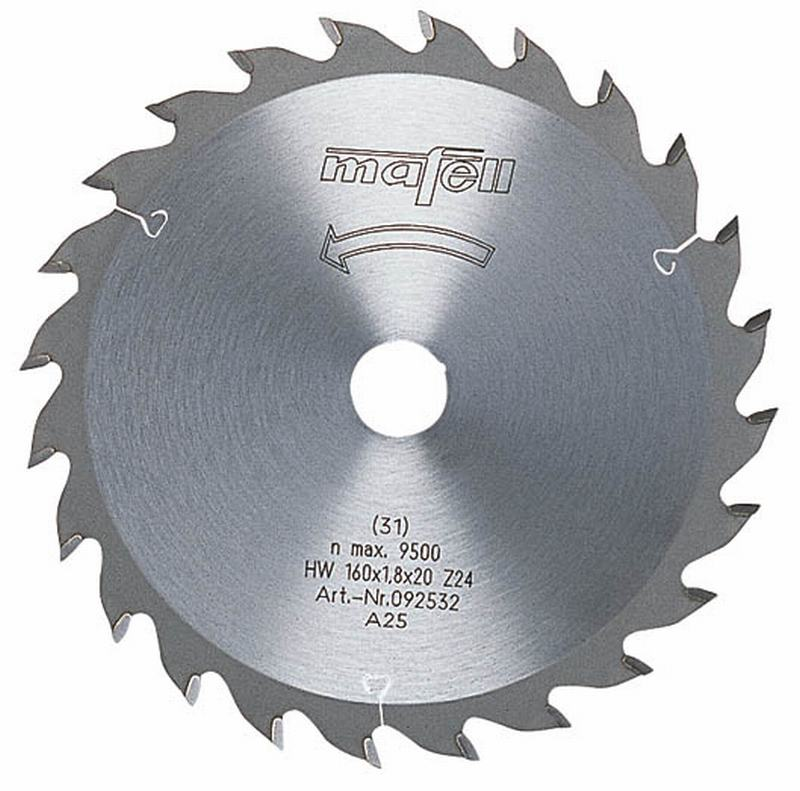 Mafell HM 160x1,2/1,8x20mm Z24 WZ Zaagblad