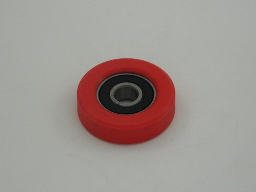 Berubberd wiel + lager D34
