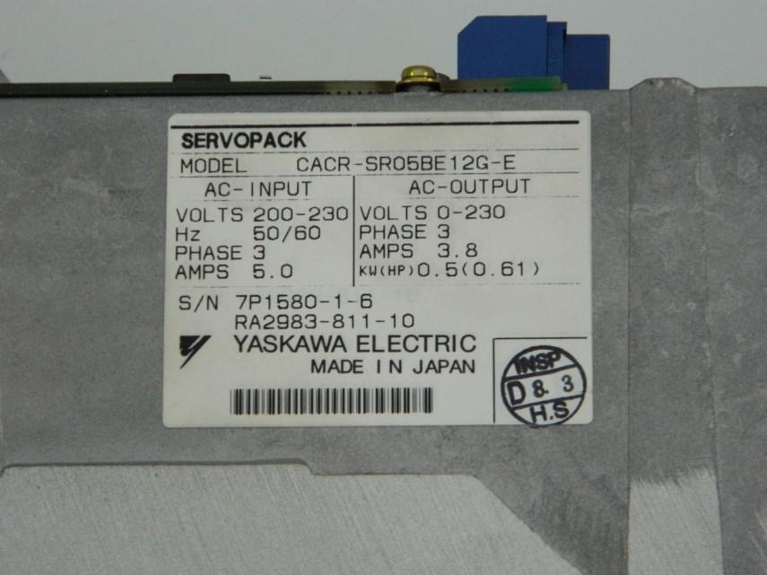 Yaskawa drive CACR-SR05BE12G-E