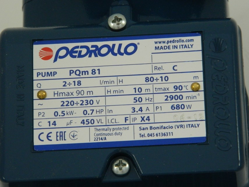 Pomp (Pedrollo) PQm81 BS
