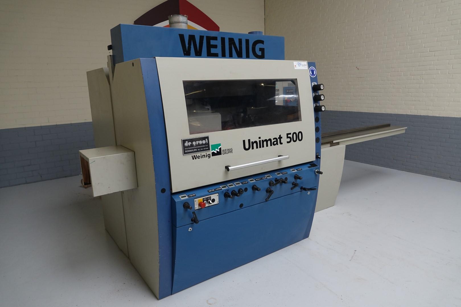 Weinig Unimat 500 gebruikte vierzijdige schaafmachine
