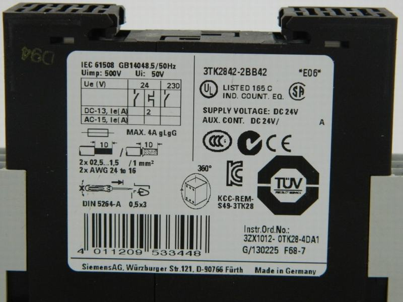 Veiligheidschakelaar 3TK28422BB42 1L+1R/30s CA